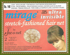 Jac-O-Net No.146 Mirage Invisible  thin Hair Net  light medium brown blond hair