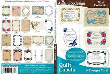 Anita Goodesign Quilt Labels Embroidery Machine Design CD