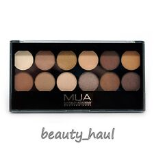 MUA 12 Eyeshadow Palette HEAVEN AND EARTH Nudes To Browns *NEW* FREEPOST