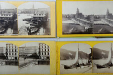Stereoviews Flat Cards Views Of The Rhine River And Vicinity, Germany