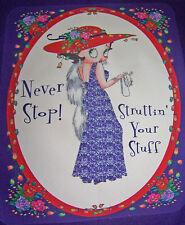 PURPLE SWEATSHIRT LARGE  W/ BETTY BOOP WEARING A RED HAT & PURPLE DRESS