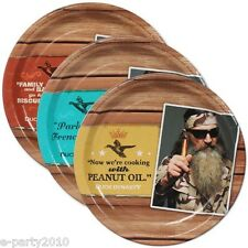 DUCK DYNASTY LARGE PLATES (8) ~ Birthday Party Supplies Phil Jase Robertson
