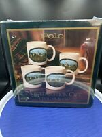 Polo Ralph Lauren Set of 4 vintage Mugs from 1978 NEW IN SEALED BOX