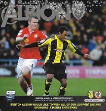 Programma CALCIO > Burton Albion V Accrington Stanley DEC 2012