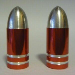 Original Metal Bullet Dust Caps for BMX MTB Bicycle Bike Car Schrader Valve Red