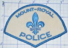 CANADA, MOUNT-ROYAL POLICE DEPT QUEBEC VINTAGE WHITE & BLUE PATCH