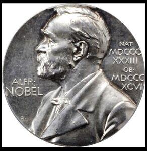 Nobel Prize Nomination Medal Silver Medicine PCGS SPECIMEN 63