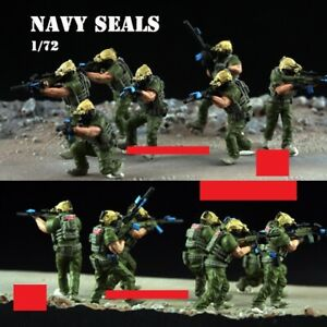 New 1/72 Scale US Navy Seals Team 7PCS Soldiers Assembled Painted Plastic Model