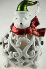 Cute Ceramic Polar Bear - Christmas Light Up L.E.D Colour Changing Ornament