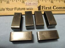 From Old Saddle Shop 6 Antique Silver Buckle Keepers