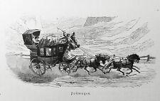 1890 ITALIEN VON WOLDEMAR KADEN=Ved.Xilo, Postwagen-Corriere Postale/Viaggiatori