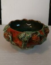 Vintage Asian Oriental Bamboo Glass Bowl  for Bamboo Flower Arrangements