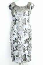 Jacques Vert silver damask party occasion cocktail dress size 10 RRP £169