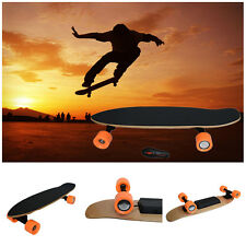 Electric Longboard Skateboard 4 Wheels Skate Board + Wireless Remote Controller