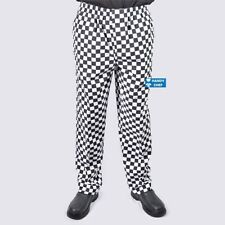Quality Chef Pants 3 Pack - Black & White Diamond Check -Most Durable Chef Pants