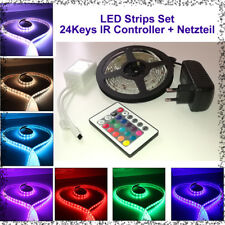 Wasserdichter 2M RGB 5050 LED Streifen Strip Band Leiste, 60LEDs/M, 24Key IR FB
