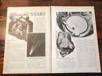 1932 Studying Meteors That Fall to Earth Past & Present Astronomy Stars Shower