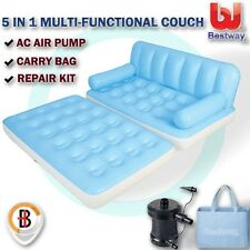 Bestway Inflatable 5 in 1 Multi-functional Couch Double Air Bed Sofa w/ Air Pump