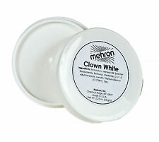 MEHRON CLOWN WHITE TUB MINERAL OIL BASED NON-CRACKING FACE BODY PAINT MAKEUP