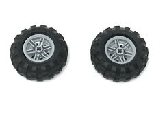 LEGO 2 off Balloon Tyres 55976 56 x 26 with L.B. Grey Wheel 56145 30.4D X 20