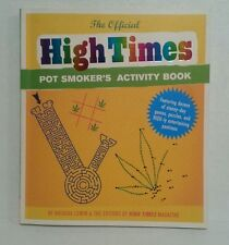 The Official High Times Pot Smoker's Activity Book ( New/Unused) Free Shipping!