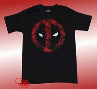 New Marvel Deadpool Logo Black Mens T-Shirt