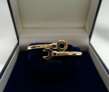 Fine Spanner/Nut Torque Baby Bangle 375 (9ct) Yellow Gold - Diameter 45 mm -5.6g