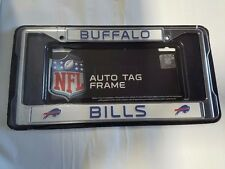 Buffalo Bills Chrome Metal License Plate Frame - Auto Tag Holder - NEW