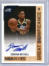 Donovan Mitchell 17/18 Panini NBA Hoops Great Significance Autograph Rookie