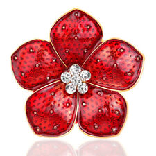 Red Oil Dripping Flower Brooches Badges Pin 2020 Enamel Badge