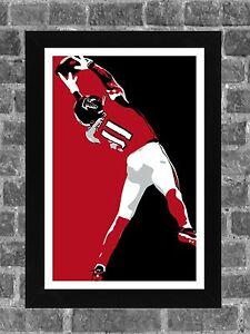 Atlanta Falcons Julio Jones SB Catch Portrait Sports Print Art 11x17