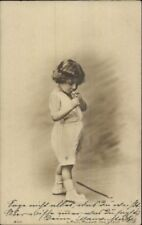 Child Smoking Cigarette c1905 Used Serbian Real Photo Postcard #2