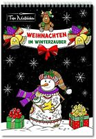 Malbuch für Erwachsene Weihnachten, Herbst & Winter: Spiralbindung & perforiert