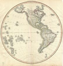 1812 Pinkerton Map of the Western Hemisphere (North America and South America)