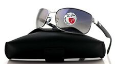 POLARIZED Genuine RAY-BAN Glass Lens Gun metal Frame Sunglasses RB 3478 004/78