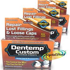 3x Dentemp Custom Maximum Strength Temporary Tooth Filling & Fix Loose Caps
