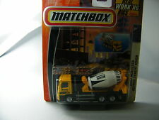 Matchbox Real Working Rig RW001/1: 2007 Mercedes Actros Cement Mixer gelb OVP