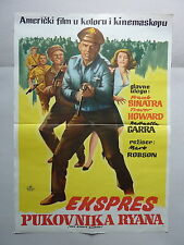 VON RYAN'S EXPRESS (1965/USA) ORIGINAL YUGOSLAVIAN MOVIE POSTER