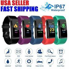 Smart Watch BT Waterproof Heart Rate Fitness Step Caolorie Tracker Monitor