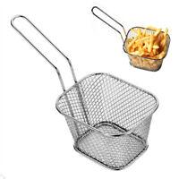 Mini Frying Basket Strainer Stainless Steel Fryer Basket Strainer Fries Colander