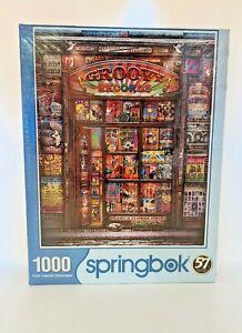 NEW Springbok Groovy Records 1000 Pc Puzzle HENDRIX ZEPPELIN PINK FLOYD BEATLES
