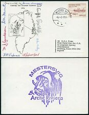 ARCTIC POLAR MOUNTAINEERING 1974 CAMBRIDGE EAST GREENLAND EXPED.MULTISIGNED CARD