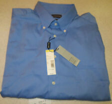 Big&Tall Covington 17-17 1/2 36-37 Wrinkle Ring Free Stain Resist Shirt BLUE NWT