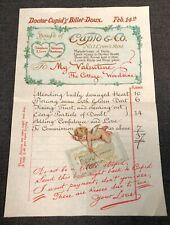 Valentine's Day Doctor Cupid Billet-Doux Lover Ephemera Bill Payment Paper