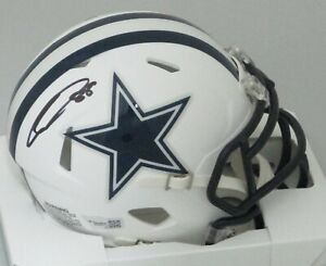 Cowboys CEEDEE LAMB Signed Riddell FLAT WHITE Speed Mini Helmet AUTO  - FAN