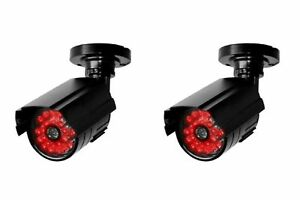 2 x Dummy Security Cameras - Dummy CCTV Camera + Nght Effect LEDs