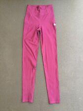 Girls Nike Full Length High Waisted Leggings Dark Purple Size Large 12-13 Yrs