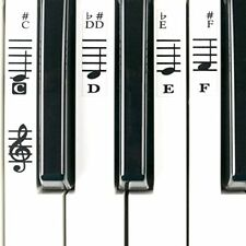 NEW Electronic Piano Keyboard Music Note Stickers Decal Label