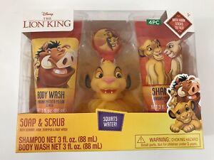 Soap and Scrub The Lion King Bath Set Shampoo Sponge Hook Body Wash