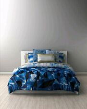 Lorena Gaxiola Crystal Collection King Duvet Cover Geometric Modern Blue & White